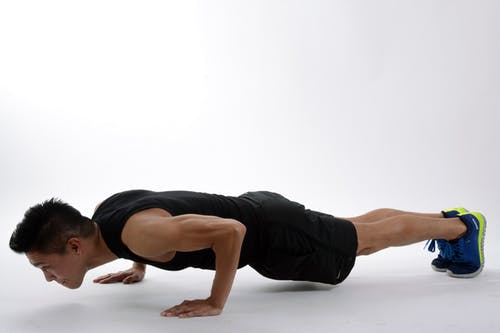 Push ups interval workout for upper body